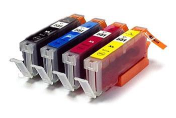 Printwell 6509B009 kompatibilní kazeta CLI551 CMYK sada cartridges pro CANON (Pixma 7250, MG5450, MG6350)