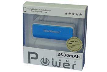 Power Bank 011, 2600mAh MODRÁ, LED svítilna, LED ukazatel nabití
