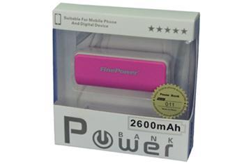 Power Bank 011, 2600mAh RŮŽOVÁ, LED svítilna, LED ukazatel nabití