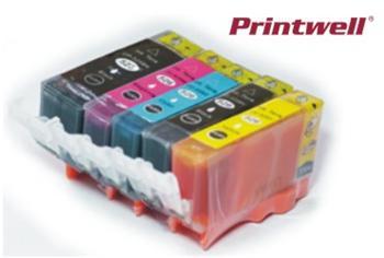 Printwell IP4850 kompatibilní kazeta pro CANON - azurová/purpurová/žlutá/černá