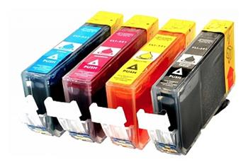 Printwell PIXMA MP640 kompatibilní kazeta pro CANON - azurová/purpurová/žlutá/černá