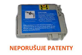 Printwell DX7400 kazeta PATENT OK pro EPSON - azurová, 13 ml