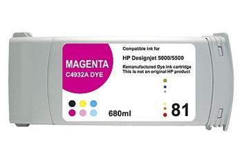 Printwell DESIGNJET 5500 kompatibilní kazeta pro HP - purpurová, 680 ml