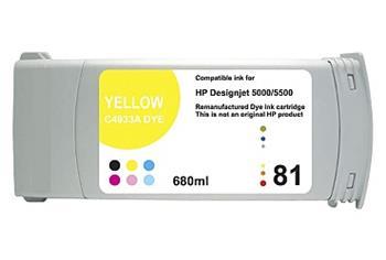Printwell DESIGNJET 5500 kompatibilní kazeta pro HP - žlutá, 680 ml